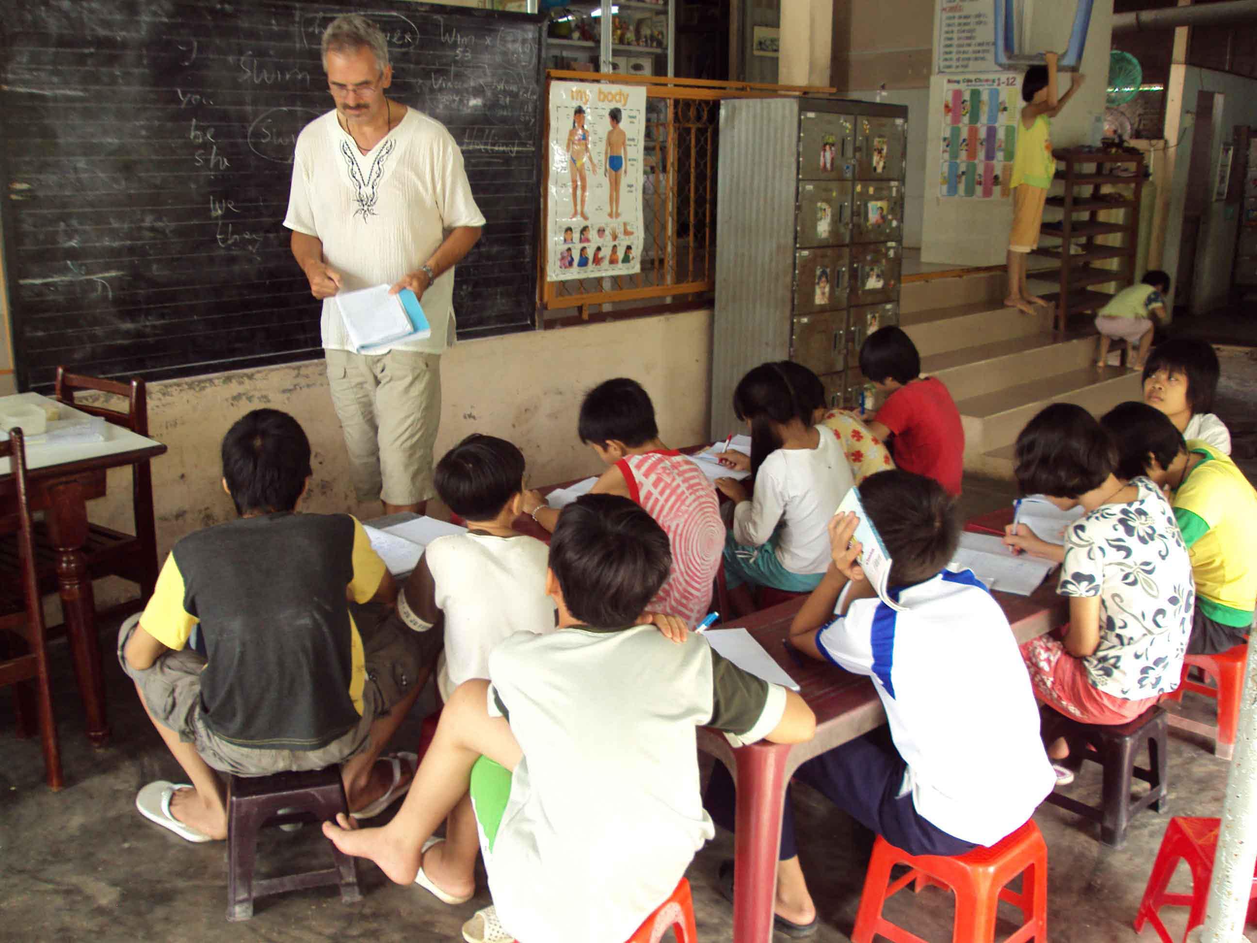 lesgeven weeshuis 2009